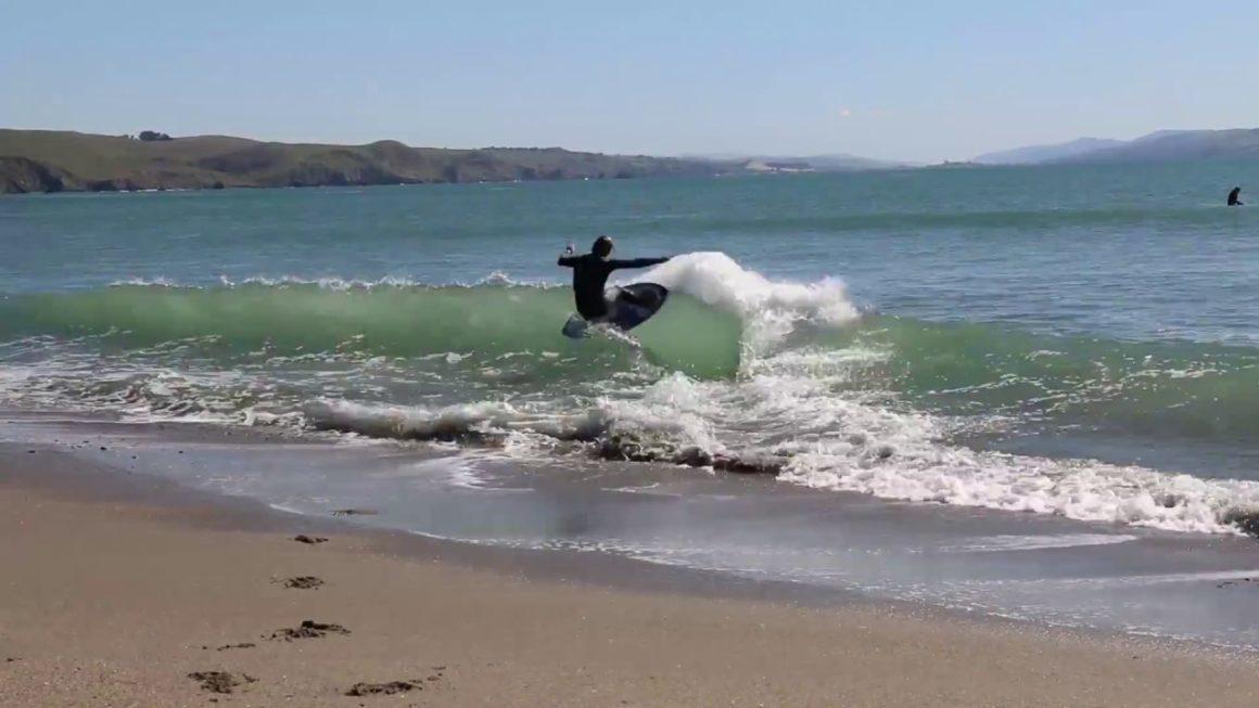 Surfing In Bodega Bay